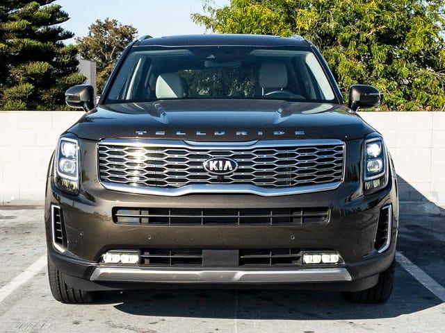 Из всех грузовиков, выглядящих как грузовики, теллурид Kia чувствует себя наименьшим грузовиком