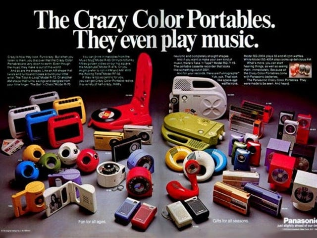 Panasonic Toot-A-Loop Radio and Crazy Color Portables