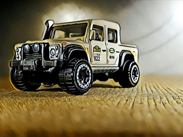 A beige Land Rover