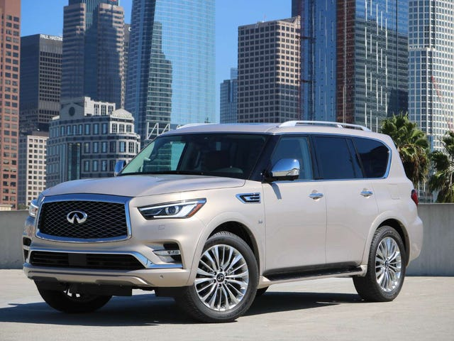 The Infiniti QX80 looks less like a beluga whale now