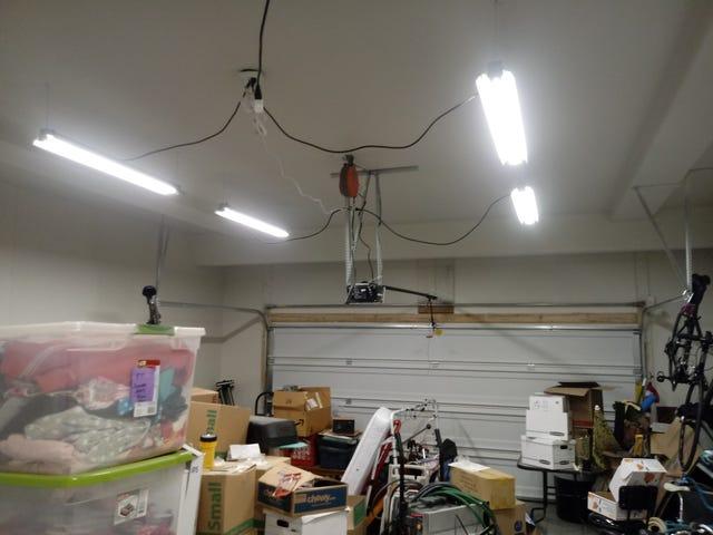 Garage lights up!