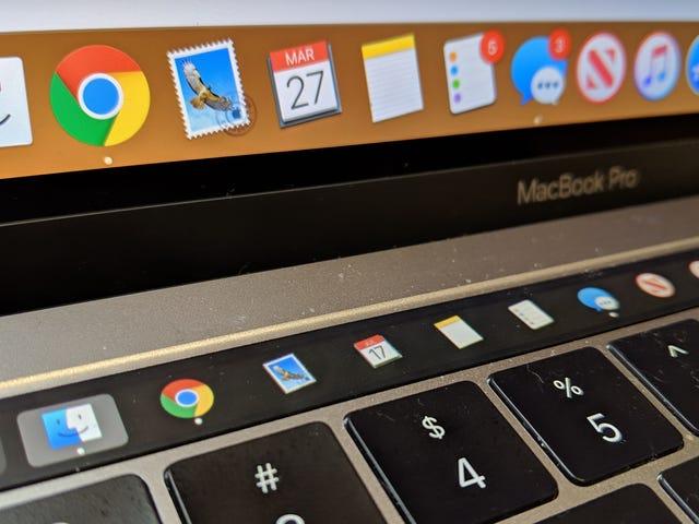 Sådan viser du din Mac Dock i dens Touch Bar