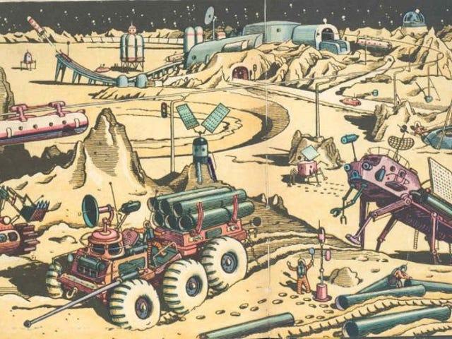 Helicópteros en la Luna y robots gigantes: así imaginaban los artistas soviéticos la vida en el espacio