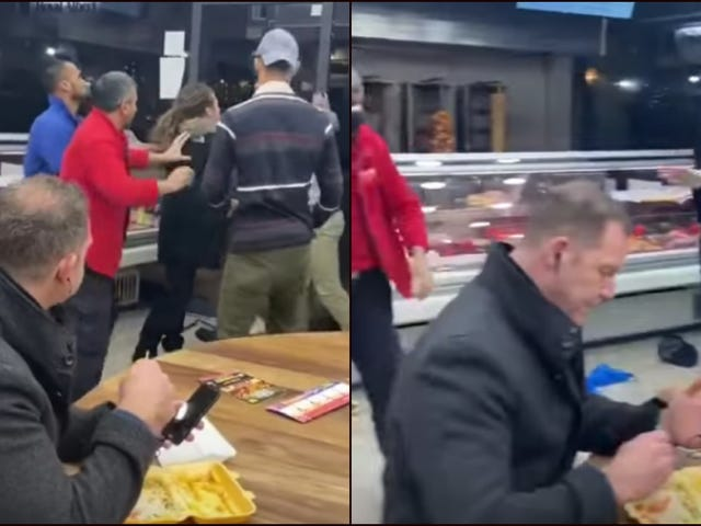 Man becomes meme when all he wants to do is eat kebab