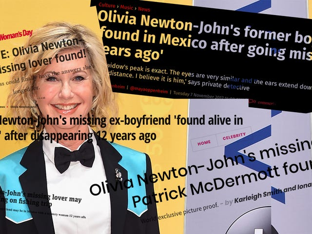 Yet Another Reminder that Olivia Newton-John's Ex-Boyfriend Probably Faked His Death