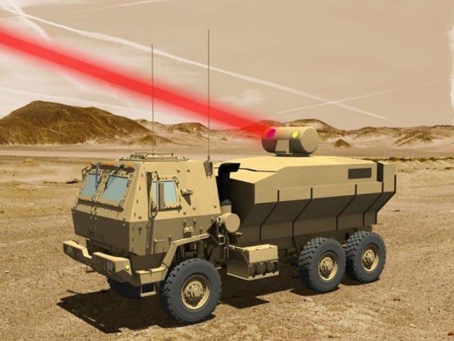 El ejército de los Estados Unidos pronto podróż derribar drones usando armas láser