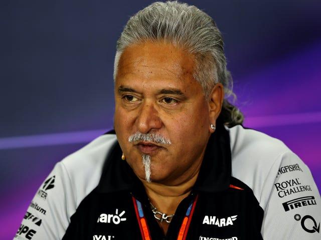 Force India F1 -joukkueen omistaja pidätettiin petoksesta ja salaliitosta
