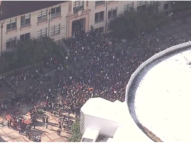 Thousands of Calif. High School Students Stage Walkout in Protest of Trump Presidency
