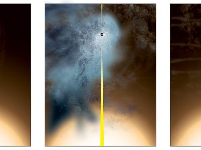 Um buraco negro nu está gritando através do universo