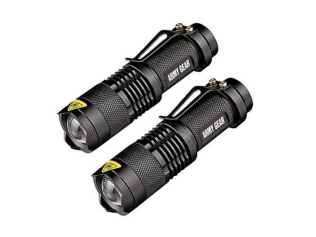 Save 80% On A Two-Pack of UltraBright 500-Lumen Tactical Flashlights ($15)