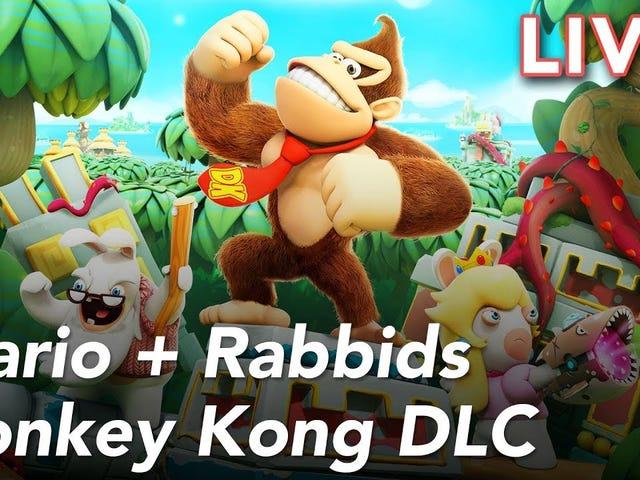 Vi spelar den nya Donkey Kong Adventure DLC för Mario + Rabbids Kingdom Battle on Switch, lev o