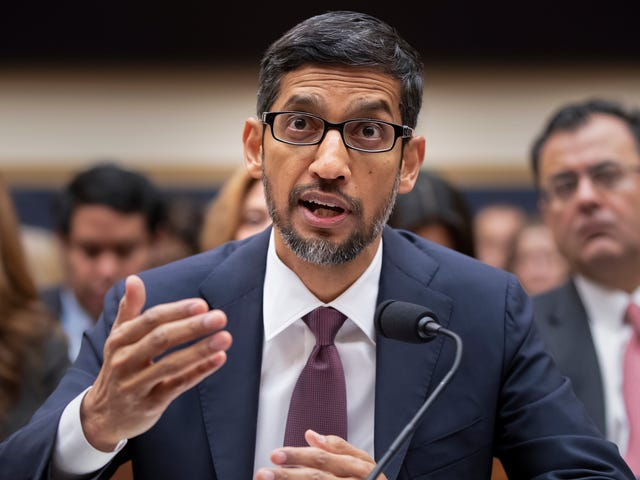 Sundar Pichai Tells Congress Google Has No Plans to Launch Censored Search in China 'Right Now'