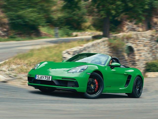 2021 Porsche 718 Boxster And Cayman GTS vil pakke en valgfri 4-liters stans