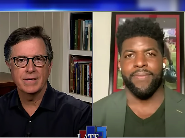 Former NFL-er Emmanuel Acho tells Stephen Colbert it's time for Uncomfortable Conversations With A Black Man