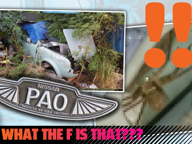 I Found The Remnants Of A Rare Nissan Pao In Hong Kong But Removing Parts Was A Nightmare