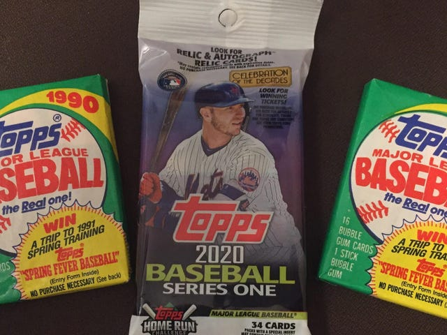Parallel Lives: Opening Topps Packs From 1990 and 2020 Side by Side