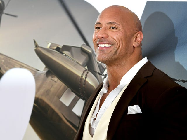 Dwayne Johnson is very sweaty and very happy to be friends with Vin Diesel (or so he says)