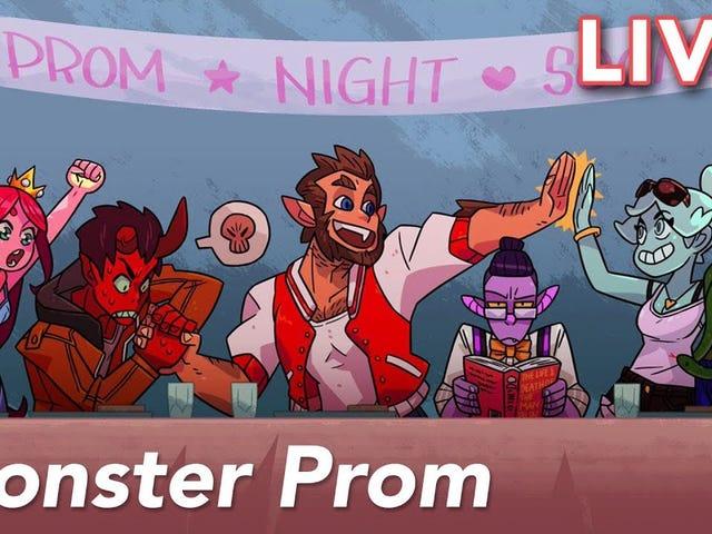 Cecilia και εγώ πρόκειται να ρεύμα Monster Prom, ένα τρομακτικό τρομακτικό dating sim.  Ελάτε να παρακολουθήσετε μαζί μας και να μας βοηθήσετε να βρούμε το τέλειο μπακ ...