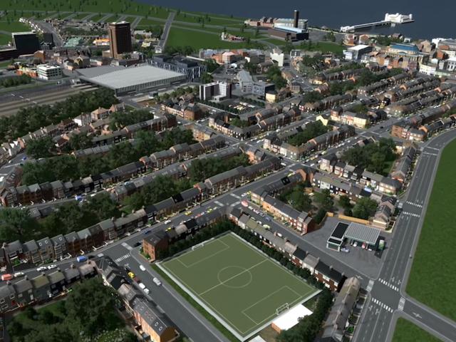 I Love This Quaint British Retail Park Built In <i>Cities: Skylines</i>