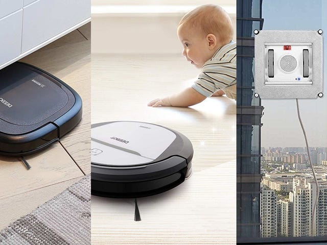 An Armada of Cleaning Robots Is On Sale, Including One That Mops, and One For Your Windows