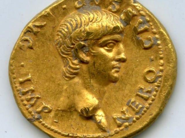 Moneta romana con la faccia di Nerone trovata a Gerusalemme