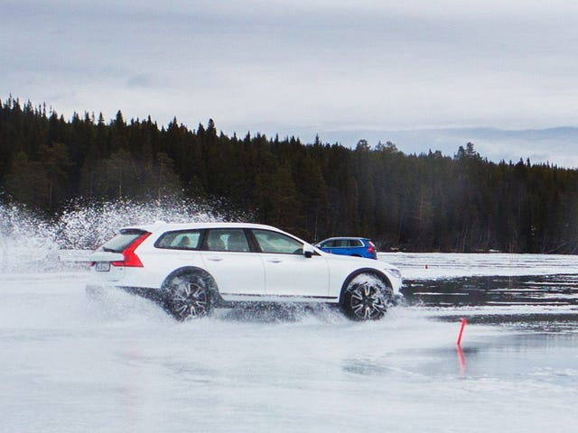 Driving A Volvo V90 Cross Country Across A Frozen Lake Was An Extreme Bad Weather Test