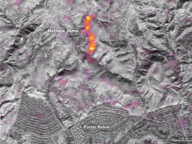 La fuite de gaz de Los Angeles était si mauvaise qu'on pouvait la voir depuis l'espace