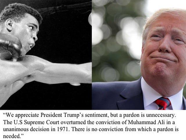 "Trump Thinking ""Very Seriously"" About Pardoning Muhammad Ali, Who Has No Criminal Record"