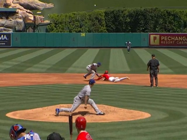 Elvis Andrus Tricked Cameron Maybin Out Of An Extra Base With A Slick Little Fake Tag