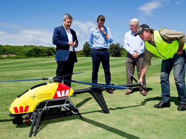 Nhân viên cứu hộ Úc đang thu hút một máy bay không người lái trị giá 200.000 đô la để phát hiện cá mập