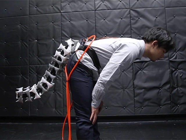 Esta cola robótica mejora el equilibrio y la agilidad de cualquier persona que la lleve puesta