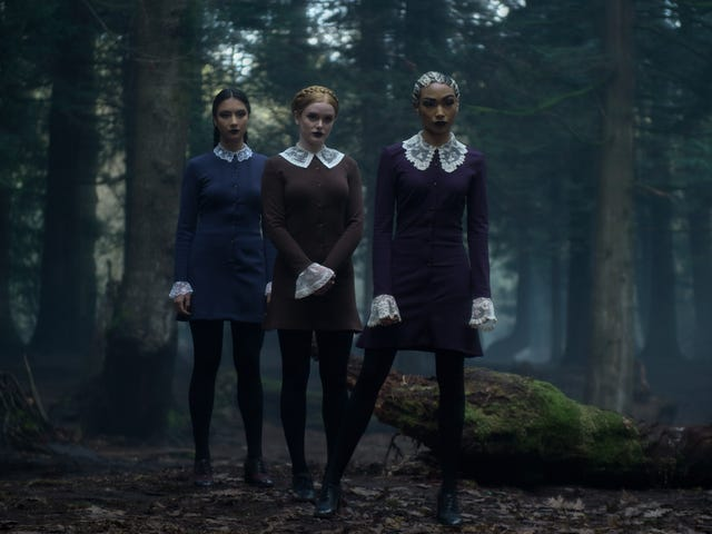 Sabrina's Weird Sisters Share How They Developed Their Creepy Bond