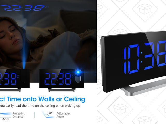 When It's Time to Wake Up, the Writing's On the Wall With This Mpow Alarm Clock