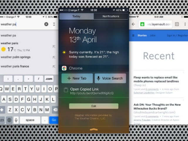 Chrome para iOS recebe a pesquisa do Centro de Notificações e puxa para atualizar