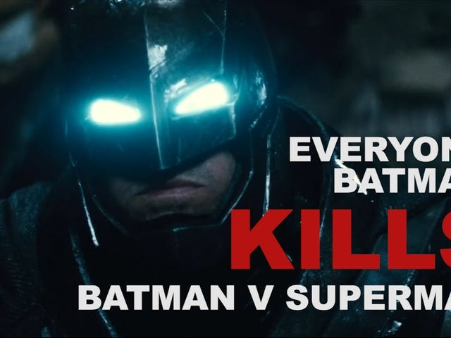 Взгляд на убийства Бэтмена в BVS