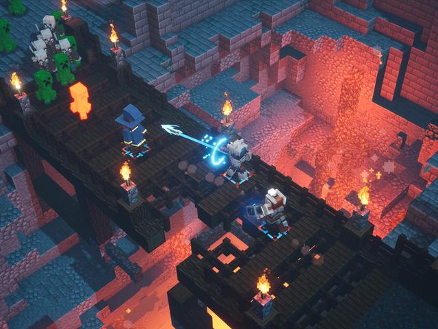 Minecraft Dungeons est comme Diablo pour toute la famille