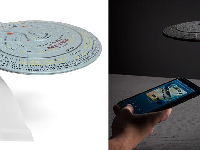 Soothing Spaceship Engine White Noise Is This U.S.S. Enterprise Bluetooth Speaker's Best Feature