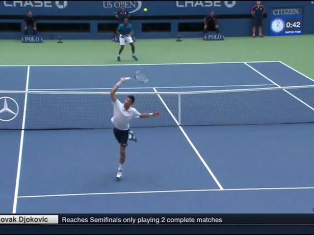 Gael Monfils Dan Novak Djokovic Menggabungkan Untuk Perhimpunan 21-Shot Strange