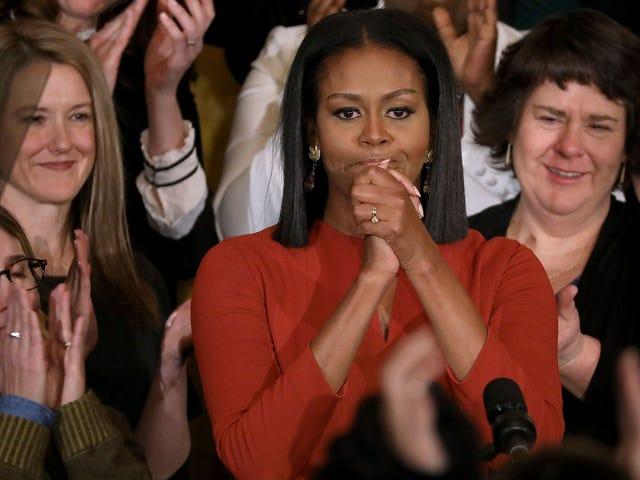 Michelle Obama deler sin sidste tur gennem det hvide hus