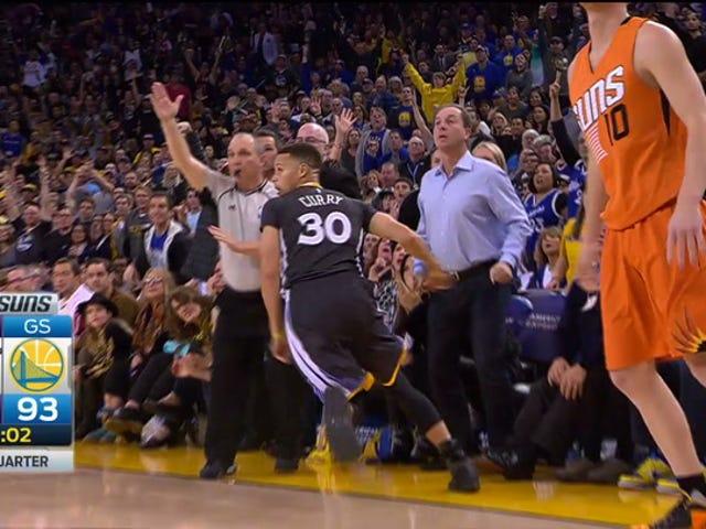 Steph Curry huir antes de que entren sus tres es grosero, maravilloso y desmoralizador