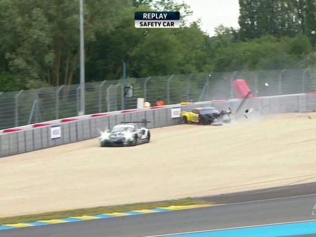 El primer gran accidente de Le Mans reclama un Corvette