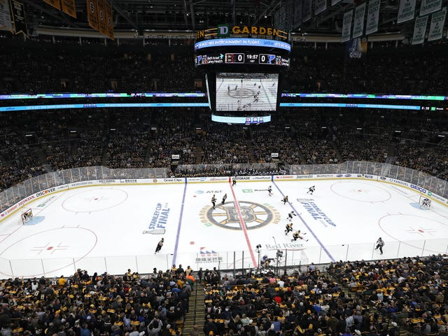 The NHL Doesn't Want To Talk About Why The Bruins Shacked Up With Barstool Sports
