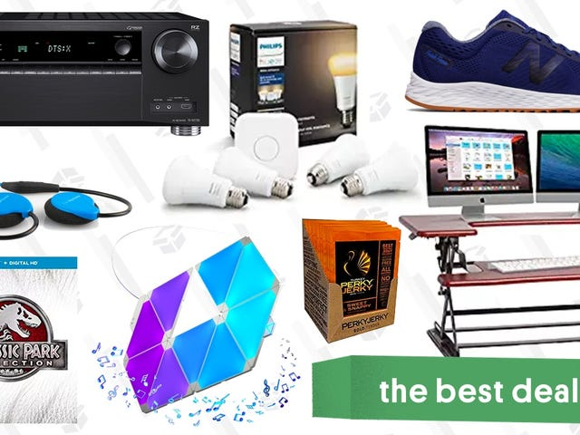 Friday's Best Deals: Standing Desk, Smart Lighting Kits, Dolby Atmos Receiver, and More
