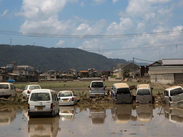 Hơn một triệu người được lệnh di tản khi Nam Nhật Bản niềng răng trong một tháng mưa trong một ngày
