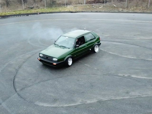 The Sickening Squeal Of This RWD VW Golf Shredding Tires Will Keep You Awake At Night