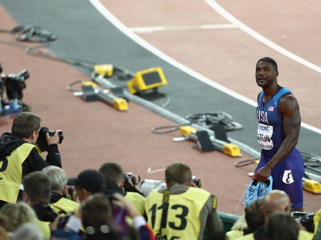American Justin Gatlin Rudely Spoils Usain Bolt's Final 100-Meter Race