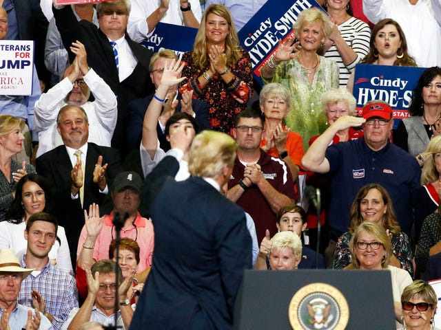 The 'Women for Trump' Really Loved Donald Trump's Mockery of Christine Blasey Ford
