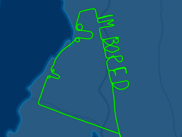 Bored Pilot skriver 'I'm Bored' og tegner to dicks i himlen