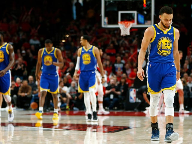 What's Left Of The Warriors Completes Sweep Of The Trail Blazers