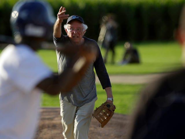 I Could Watch Bernie Sanders Play Competent Softball on a Loop Until I Die